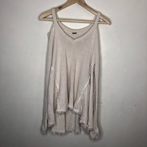 Free People Off Shoulder Ivory Sweater